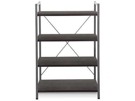 Unique Furniture 200 Series 32L x 48H Espresso Four Shelf Bookcase