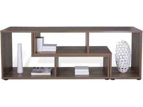 Unique Furniture 100 Collection 77L x 28H Walnut Expando Display Storage Bookcase