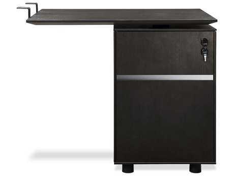 Unique Furniture 300 Series 71'' x 35'' Espresso Desk Return with File Cabinet