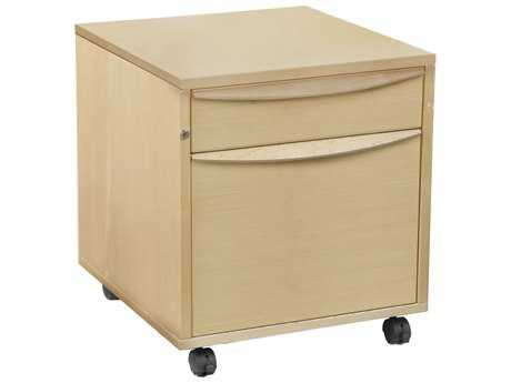 Unique Furniture Sit & Stand Maple File Cabinet with Castors