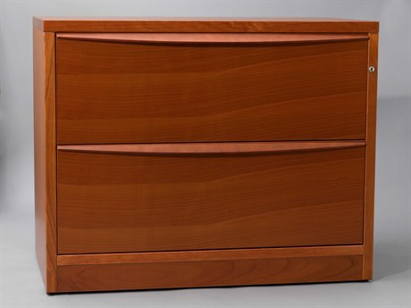 Unique Furniture Sit & Stand Prestige Cherry 32'' x 20'' Lateral File Cabinet