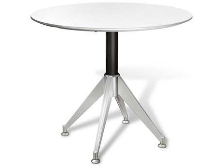 Unique Furniture 400 Series White 36'' x 36'' Round Meeting Table