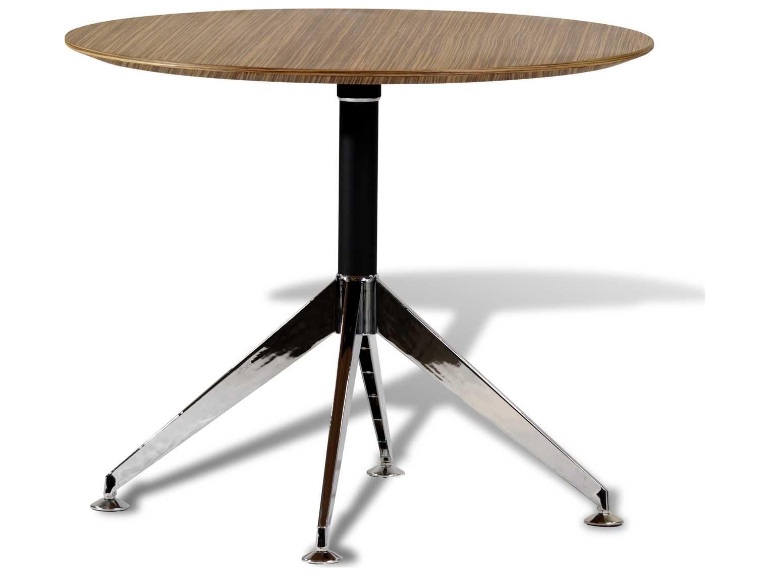 Unique furniture 400 series zebrano 36 39 39 x 36 39 39 round for Unique office table