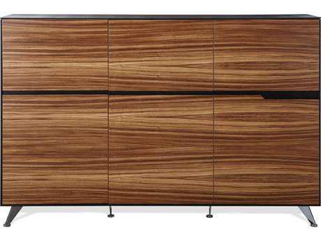 Unique Furniture 400 Series Zebrano Storage Credenza