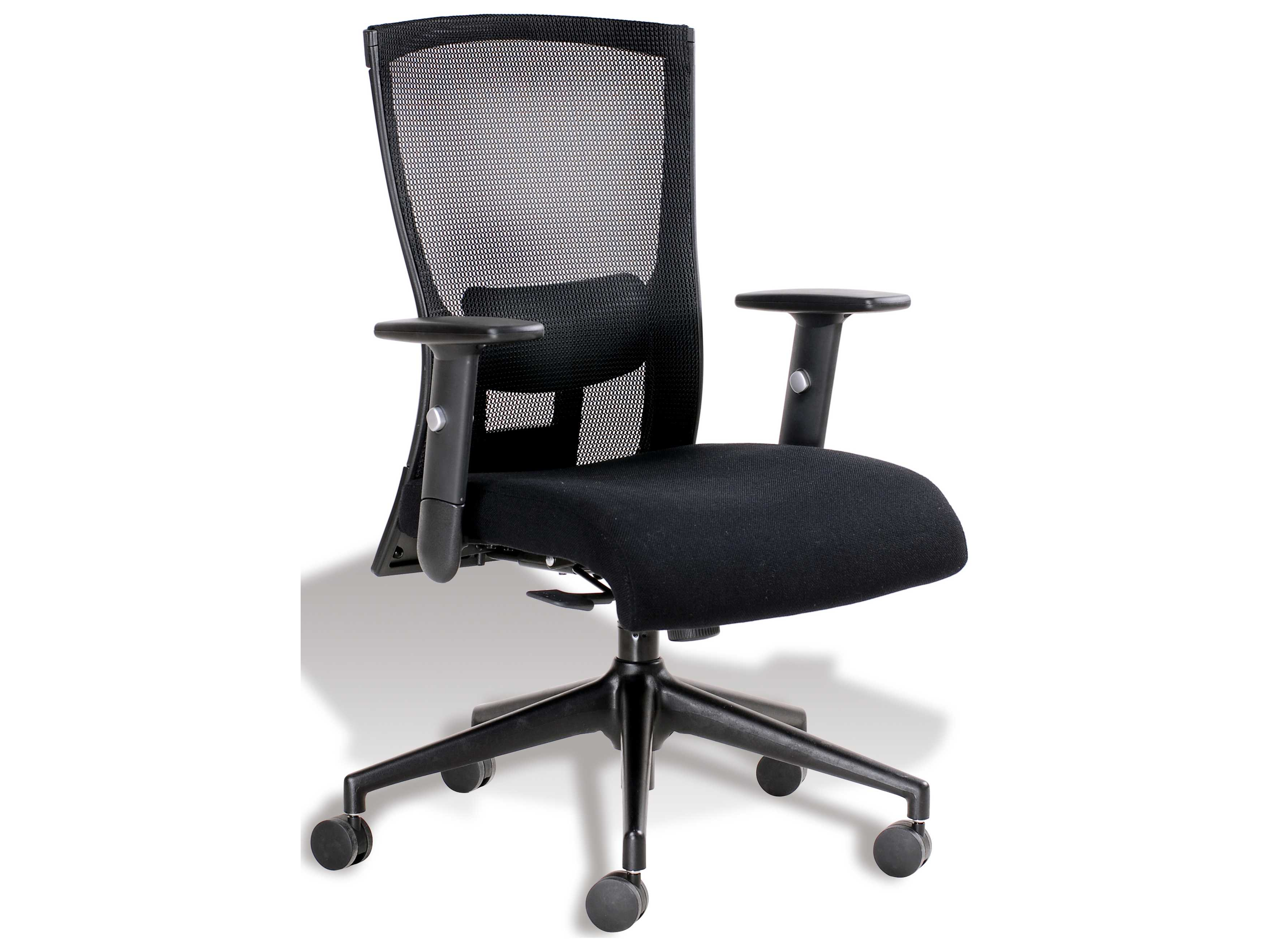 unique furniture hanna midback black office chair je5265