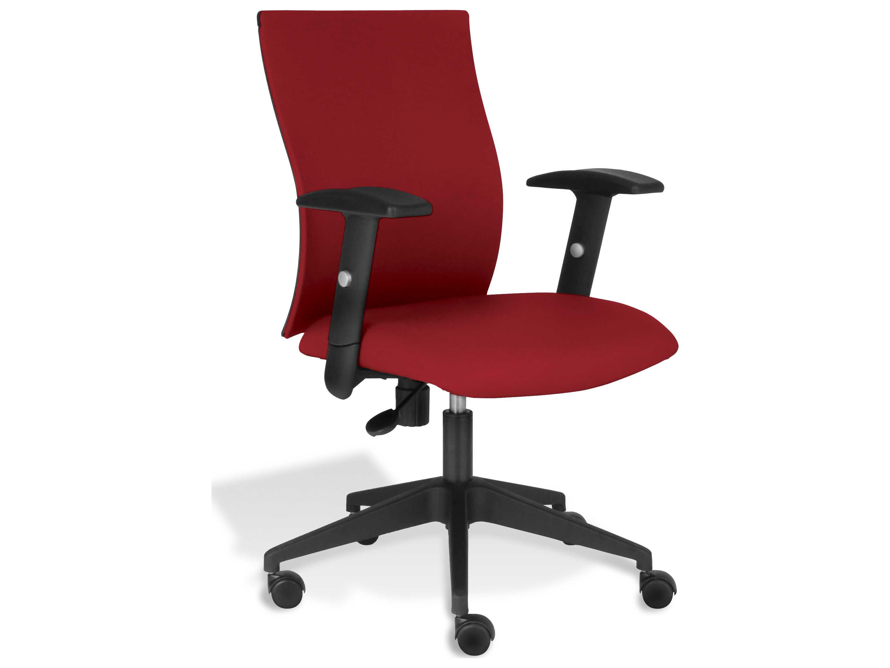 unique furniture kaja red arm office chair je53275328