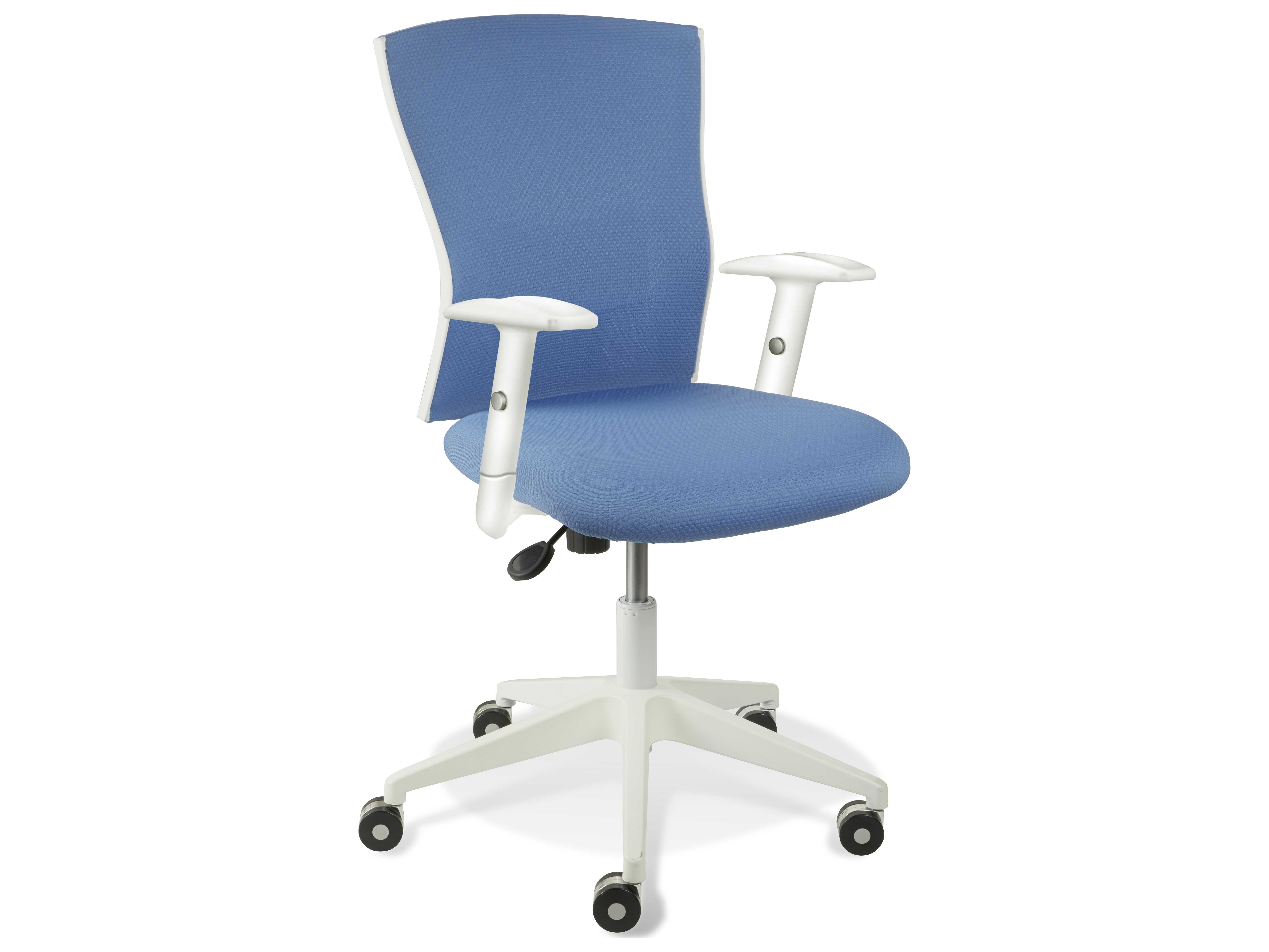 unique furniture sanne blue arm office chair je53685364