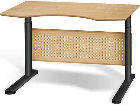 Unique Furniture Sit & Stand 47'' x 39'' Maple Adjustable Computer Desk