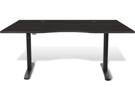 Unique Furniture 100 Series Espresso 65'' x 31.5'' Electric Height Adjustable Standing Desk
