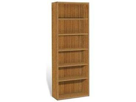 Unique Furniture 2000 Collection 30L x 86H Teak Five Shelf Bookcase