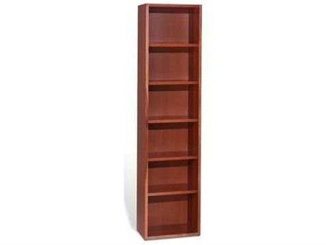 Unique Furniture 2000 Collection 21L x 86H Cherry Five Shelf Bookcase