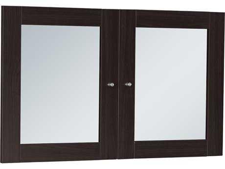 Unique Furniture 100 Collection Espresso Glass Doors for Hutch