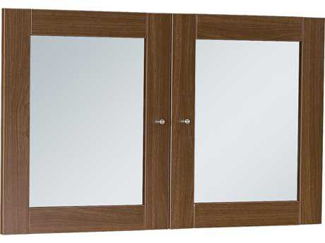 Unique Furniture 100 Series Walnut Glass Doors for Hutch