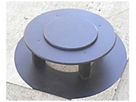 Frog Furnishings  Recycled Plastic 32 Gallon Black Round Bonnet Lid
