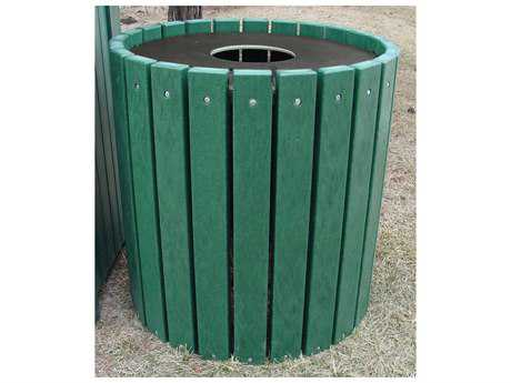 Frog Furnishings Receptacles Recycled Plastic 32 Gallon Heavy Duty Round