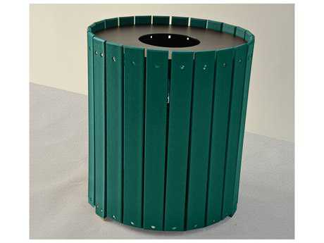 Frog Furnishings Receptacles Recycled Plastic 55 Gallon Standard Round