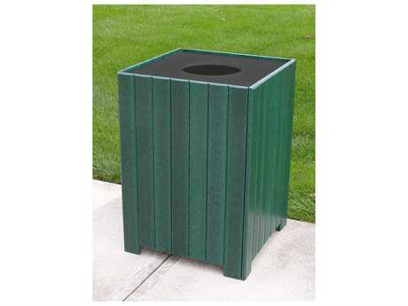 Frog Furnishings Receptacles Recycled Plastic 55 Gallon Standard Square