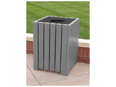 Frog Furnishings Recycled Plastic Heavy duty Square 55 Gallon Receptacles
