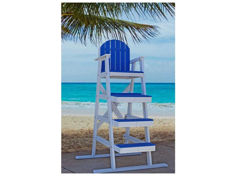 Frog Furnishings Recycled Plastic 62'' Lifeguard Chair PatioLiving