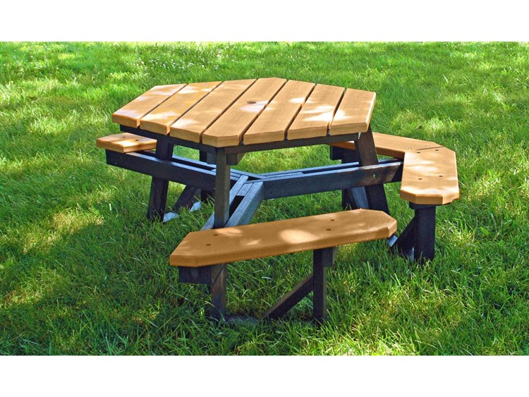Frog Furnishings Hex ADA Recycled Plastic Ft X Hexagon - Recycled plastic hexagonal picnic table