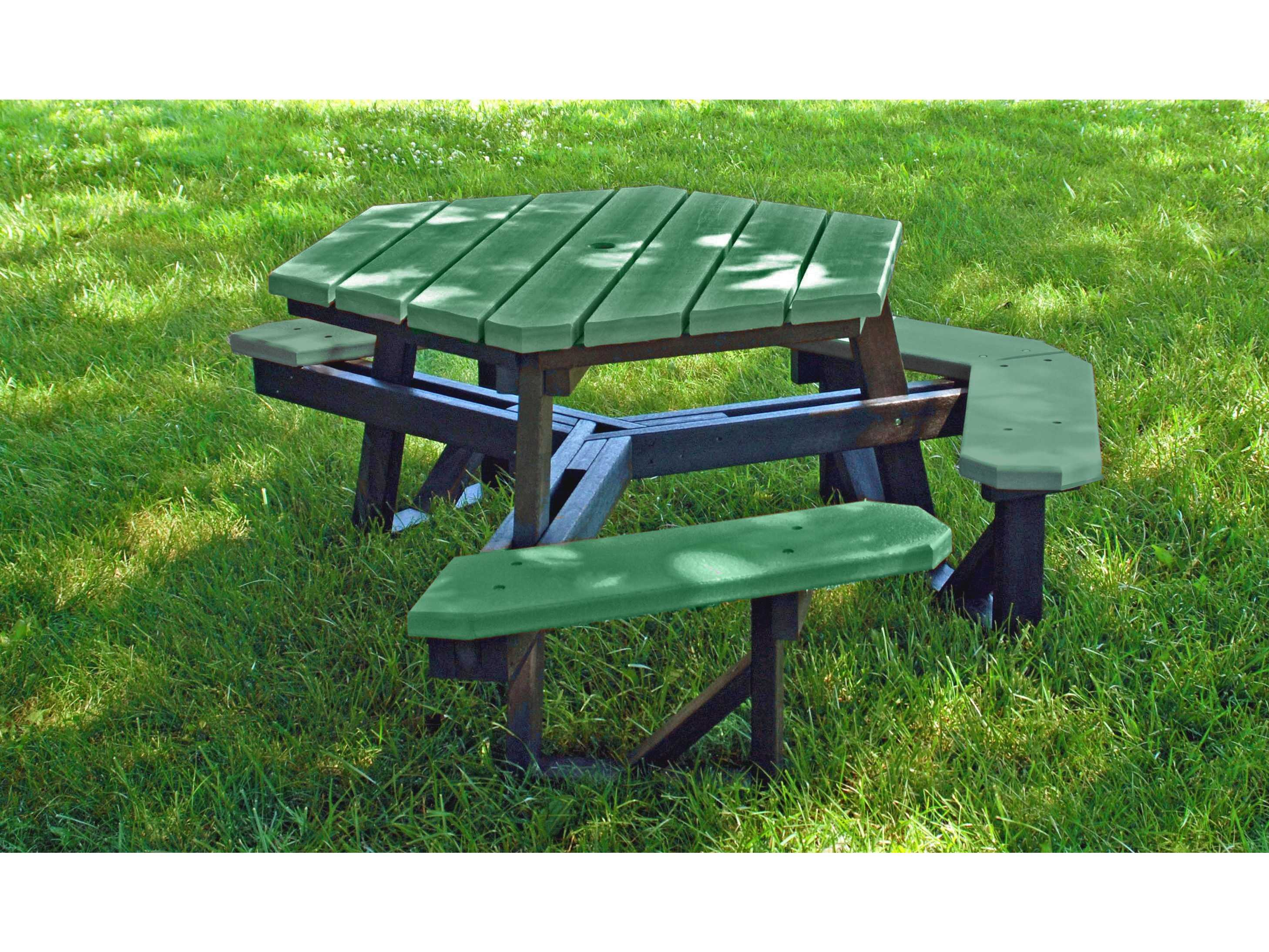 Frog Furnishings Hex ADA Recycled Plastic Ft X Hexagon - Hex picnic table