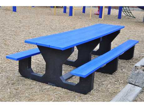 Frog Furnishings Toddler Recycled Plastic 6 ft Rectangular Picnic Table