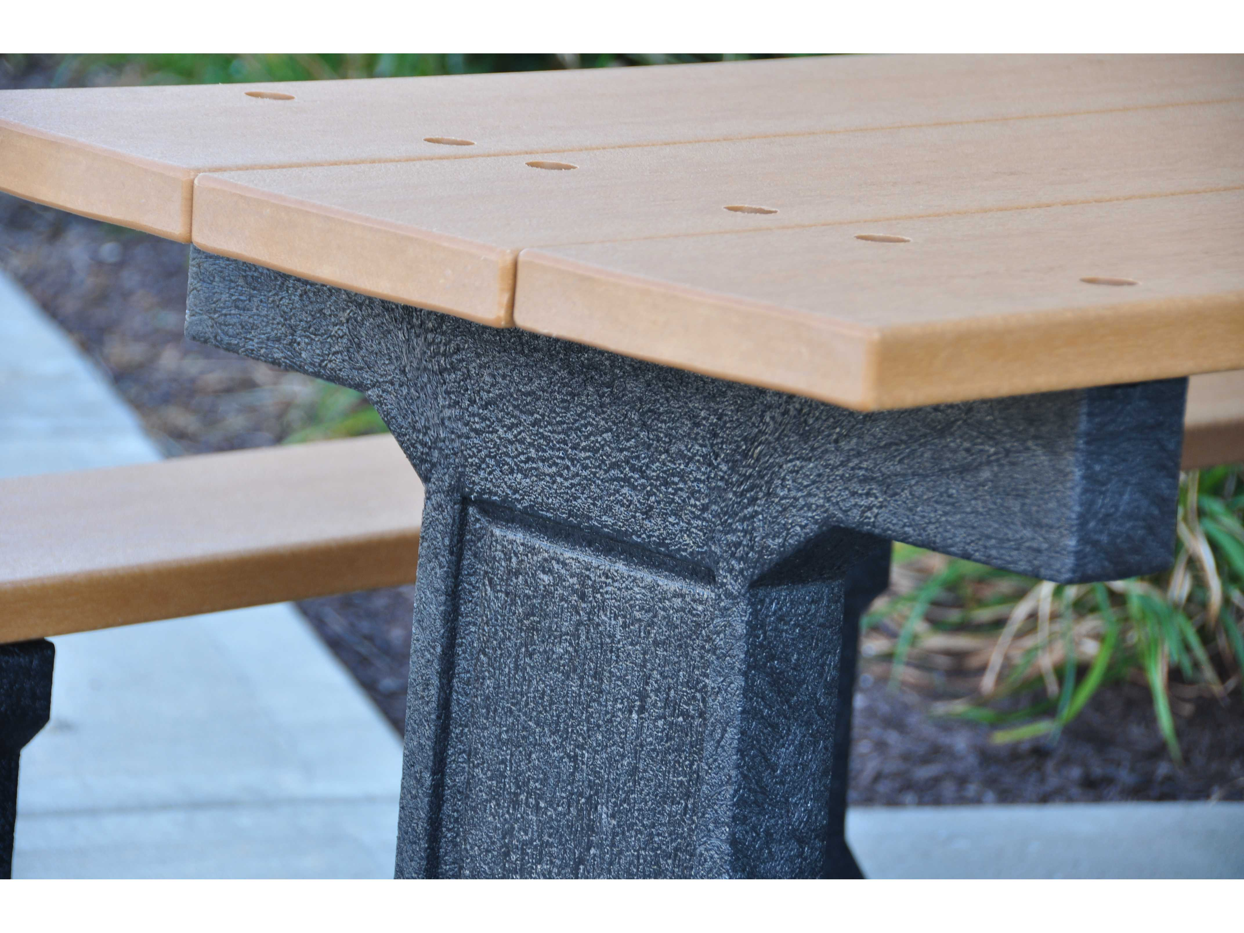 Frog Furnishings Park Place Recycled Plastic Ft X - 96 picnic table