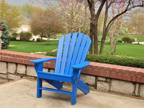 Frog Furnishings Adirondack Recycled Plastic Seaside Lounge Chair