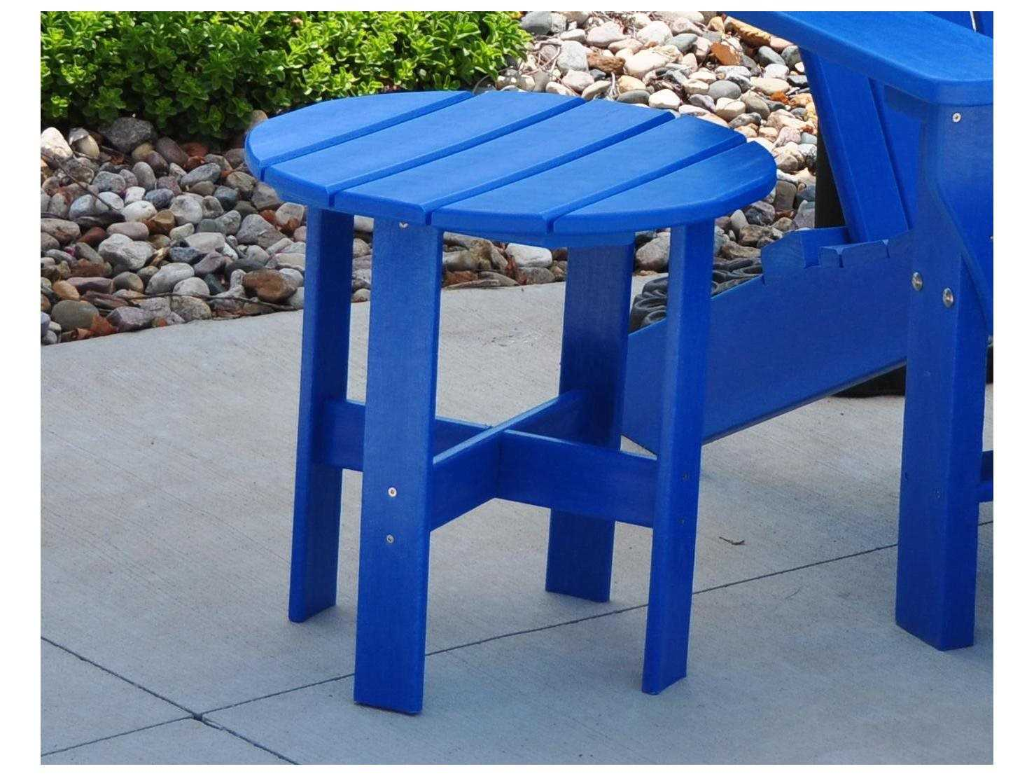 Frog furnishings adorondack recycled plastic x 17 for Pvc patio table