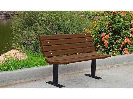 Frog Furnishings Contour Steel Recycled Plastic Bench JHPBBFCON