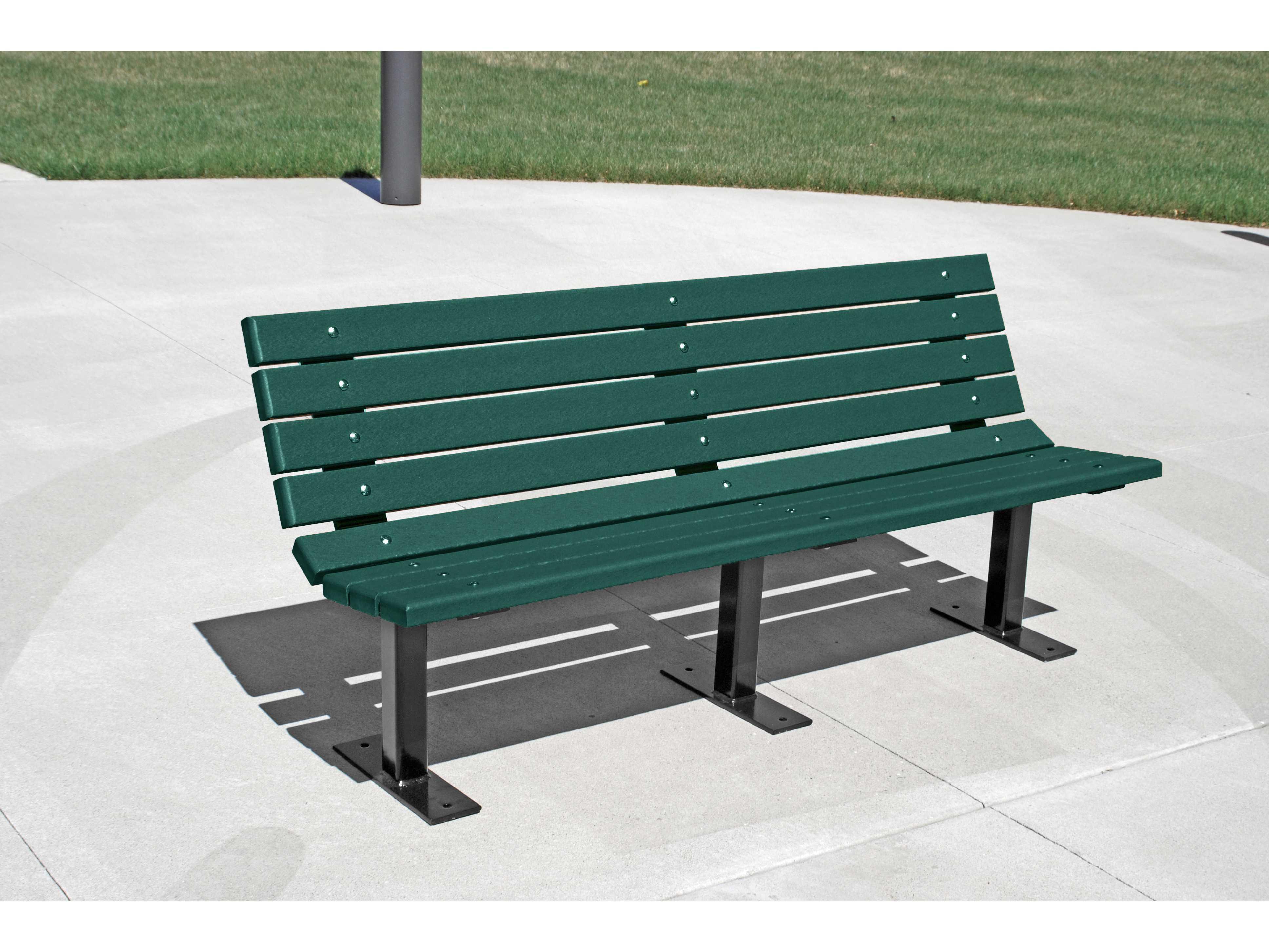 Frog Furnishings Contour Steel Recycled Plastic Bench Pbbfcon