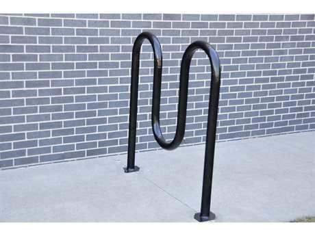 Frog Furnishings Steel 3 Loop Bike Rack Surface