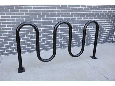 Frog Furnishings Steel 5 Loop Bike Rack Surface