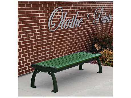 Frog Furnishings Heritage Cast Aluminum Recycled Plastic Backless Bench