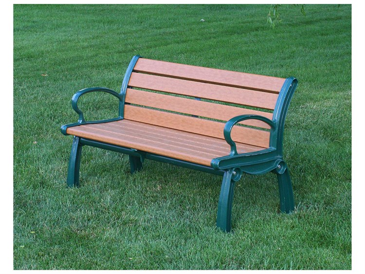 Frog Furnishings Heritage Cast Aluminum Recycled Plastic Bench