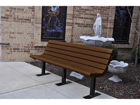 Frog Furnishings Jameson Steel Recycled Plastic Bench JHPBJAM