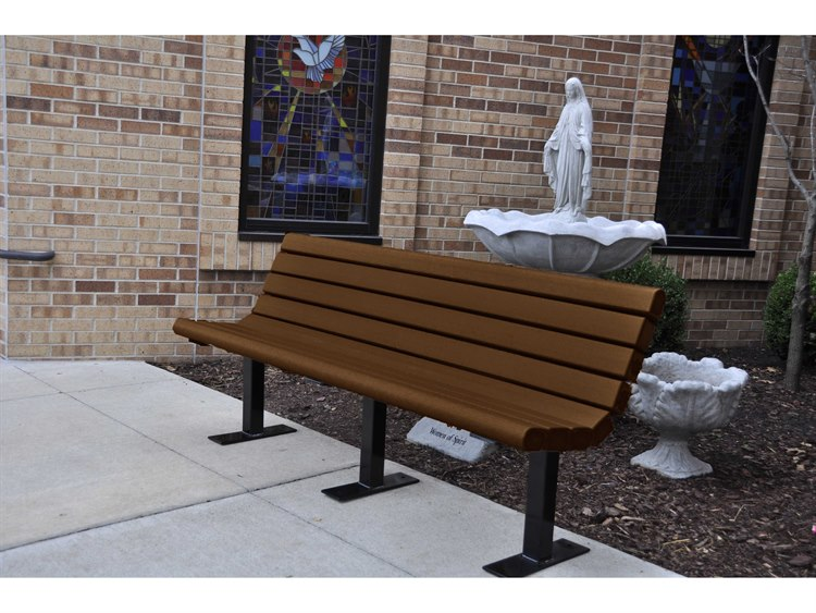 Frog Furnishings Jameson Steel Recycled Plastic Bench