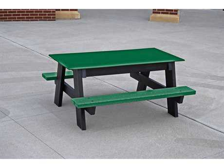 Frog Furnishings Kids Recycled Plastic 4 ft. 48 x 45 Rectangular Picnic Table
