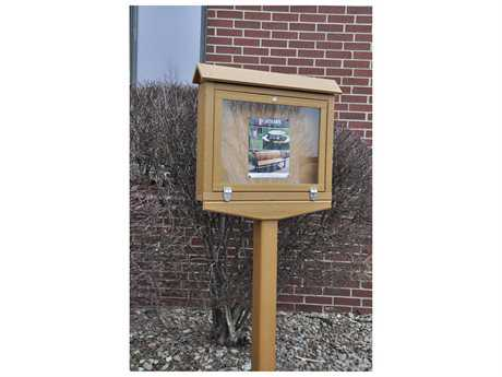 Frog Furnishings Message Center Recycled Plastic Small Hinged Premium One Side No Post