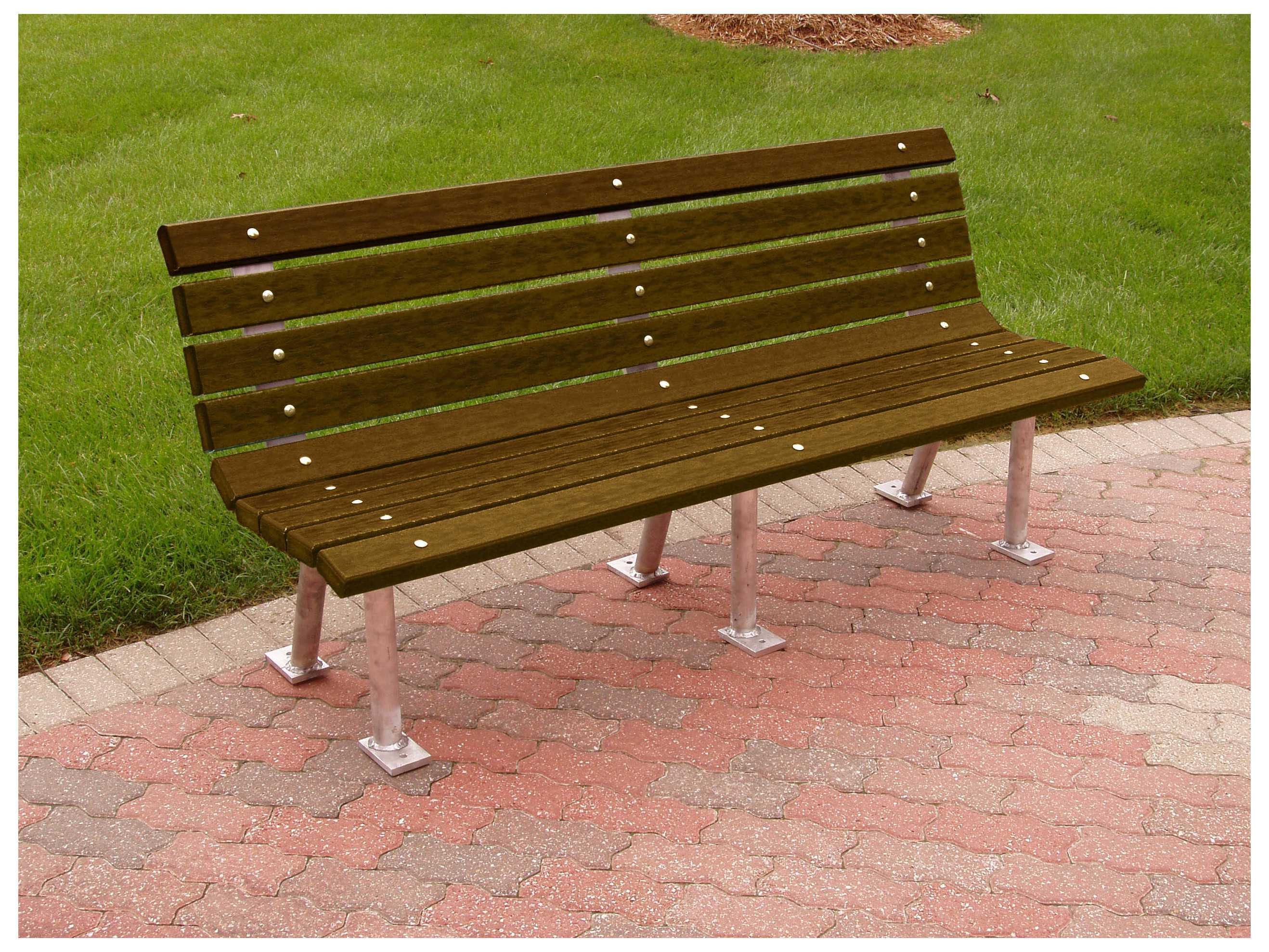 Frog Furnishings Saint Pete Aluminum Recycled Plastic Bench Jhpbstp