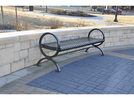 Frog Furnishings Wellington Cast Aluminum 6 ft. Backless Bench
