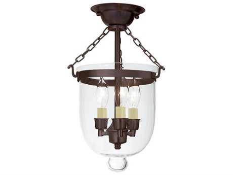 JVI Designs Hundi Three-Light Semi-Flush Mount Light
