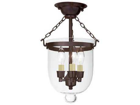 JVI Designs Hundi Three-Light Semi-Flush Mount Light