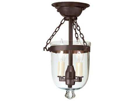 JVI Designs Hundi Two-Light Semi-Flush Mount Light