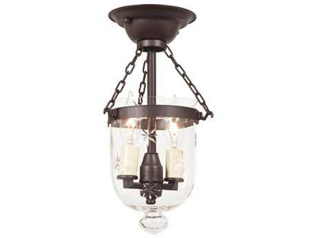JVI Designs Hundi Two-Light Semi-Flush Mount Light