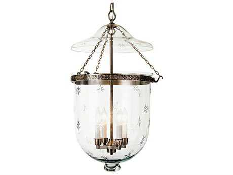 JVI Designs Kensington Four-Light Bell Jar Pendant Ceiling Light