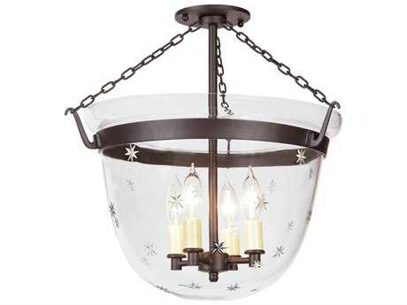 JVI Designs Mclean Verde Four-Light Flush Mount Light