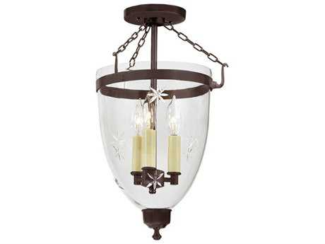 JVI Designs Danbury Three-Light Semi-Flush Mount Light