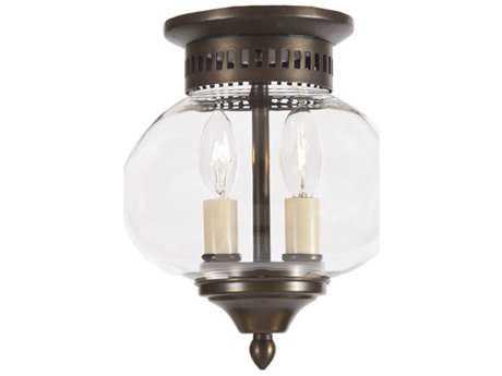 JVI Designs Classic Onions Two-Light Semi-Flush Mount Light