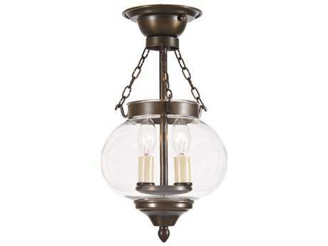 JVI Designs Classic Onions Two-Light Semi-Flush Mount Light
